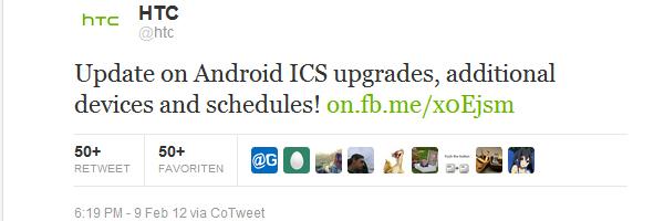 Android 4.0 bekanntgabe auf Twitter