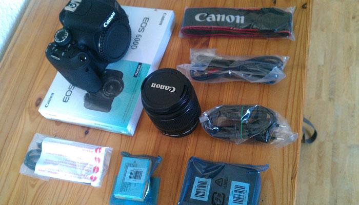 Canon EOS 600D - Inhalt