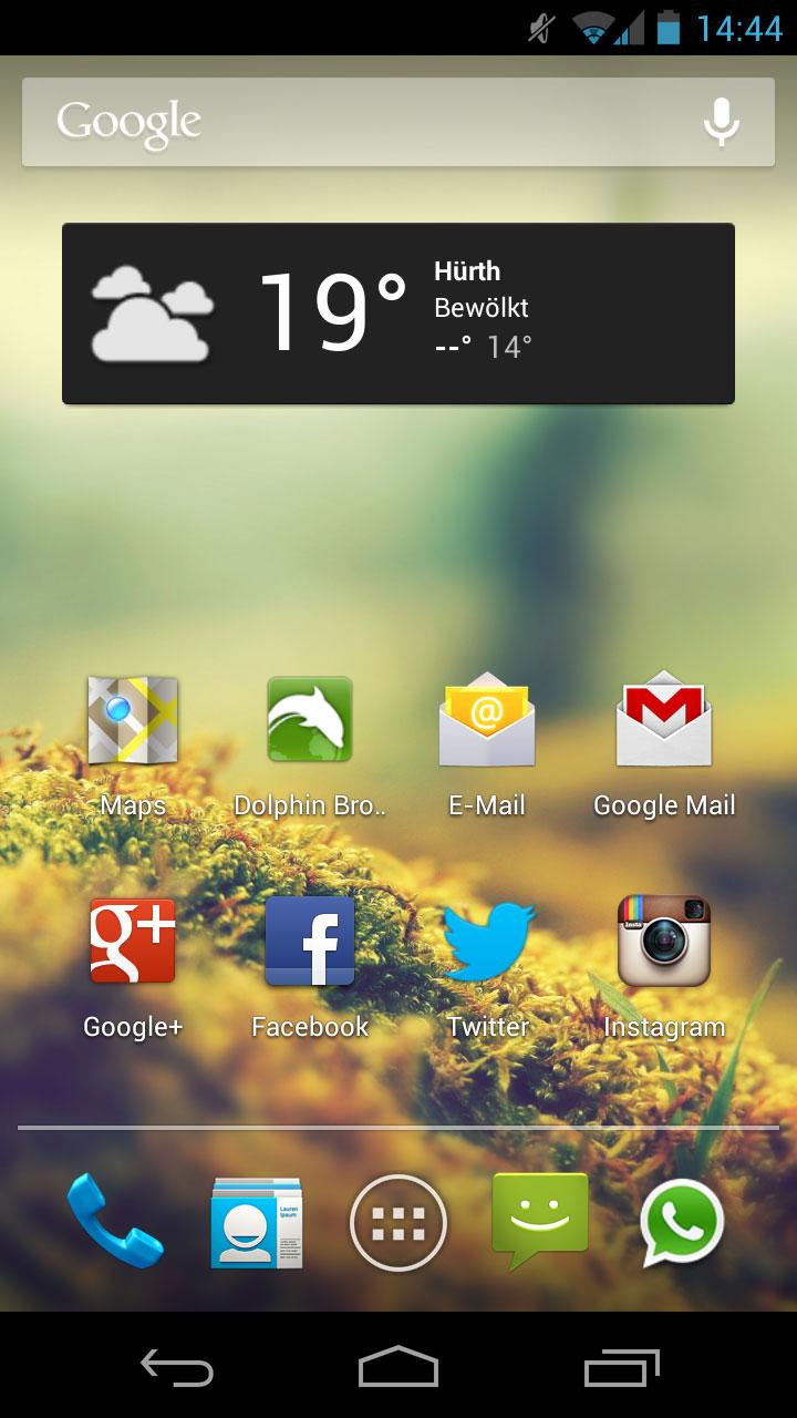 Galaxy Nexus - Homescreen