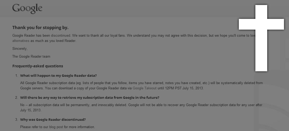 Google Reader - Ein Nachruf