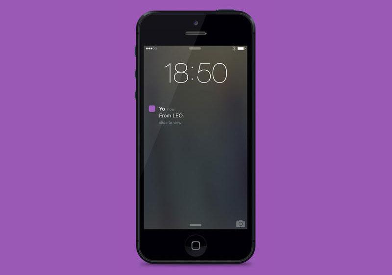 Yo. App - Benachrichtigung auf dem Sperrbildschirm