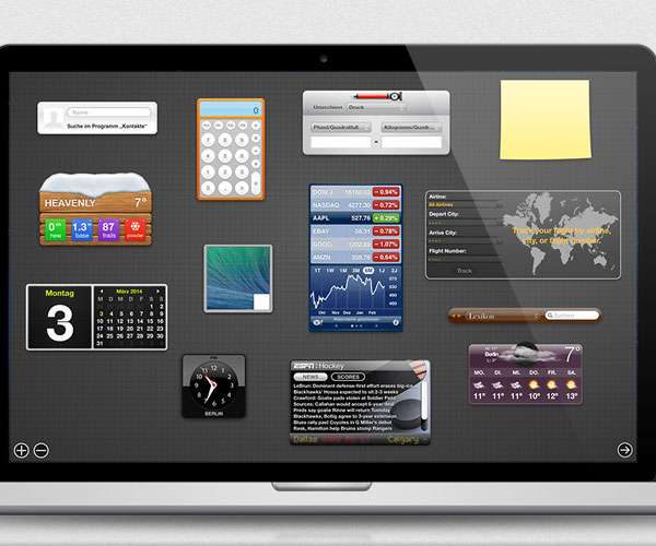 Mac OS X - Dashboard