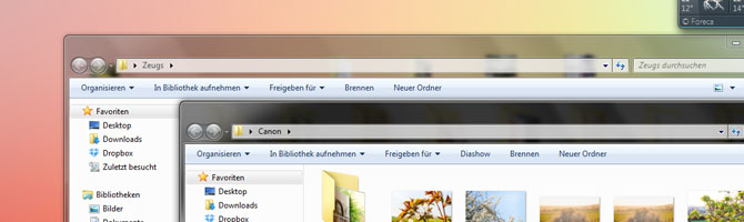 Aero Glass unter Windows 7 heutzutage